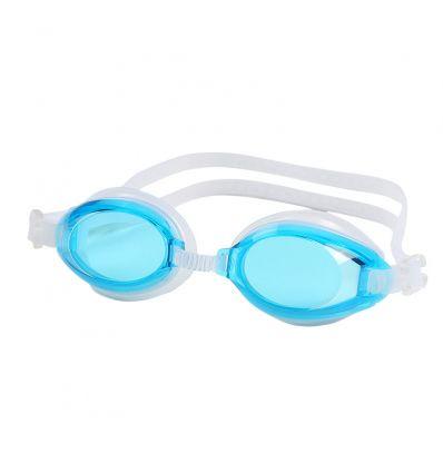 Очки для плавания с берушами голубые