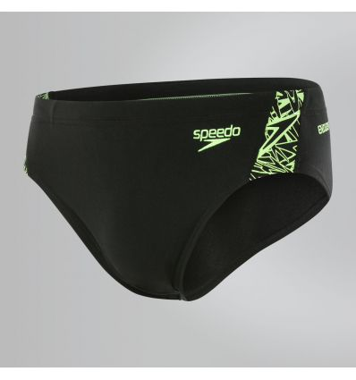 SPEEDO Boom Splice 7cm Brief черно-зеленые
