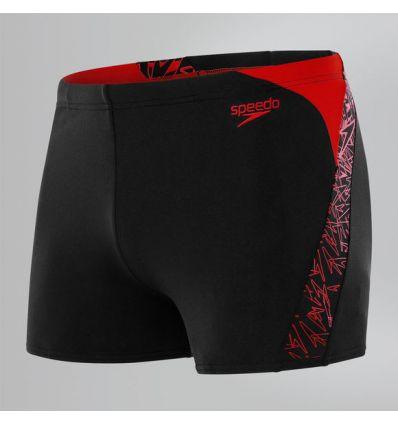 Плавки SPEEDO Boom Splice Aquashort черно-красные