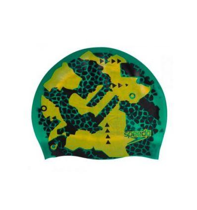 Шапочка для плавания двусторонняя Speedo Reversible Сap Green - D682, зеленый