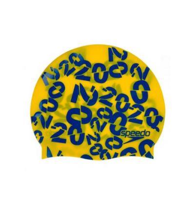 Шапочка для плавания детская Junior Slogan Cap Yellow - D690