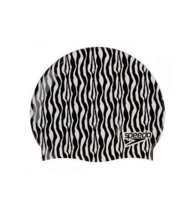 Шапочка для плавания детская Slogan Print Cap Zebra - D685, разноцветный