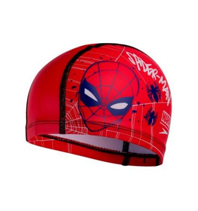Шапочка для плавания детская Speedo Junior Marvel Spider-Man Printed Pace Cap Red