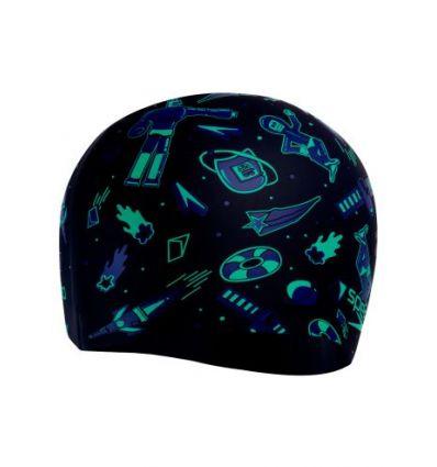 Шапочка для плавания детская Speedo Junior Slogan Cap Navy