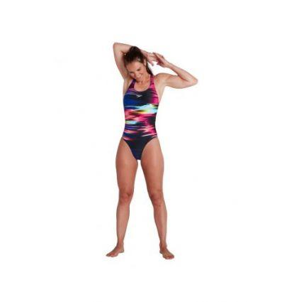 Купальник слитный Speedo Placement Digital Powerback Swimsuit Black