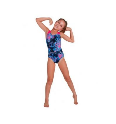 Купальник слитный детский Speedo Allover Splashback Swimsuit Black