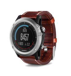 Часы FENIX® 3 Sapphire с кожаным ремешком