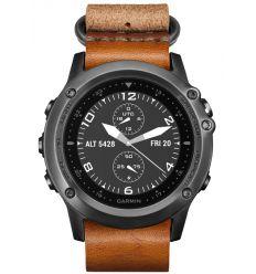 Часы FENIX® 3 Sapphire серый с кожаным ремешком