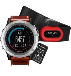 Часы FENIX® 3 Sapphire  с кожаным ремешком и пульсометром