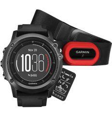Часы FENIX® 3 Sapphire HR с черным ремешком со встроенным и нагрудным пульсометром
