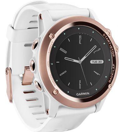 Часы FENIX® 3 Sapphire золотые c белым ремешком