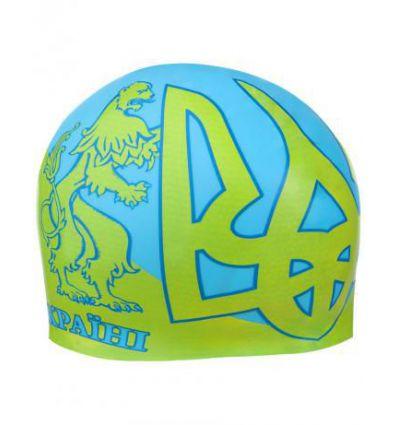Силиконовая шапочка для плавания UKRAINE