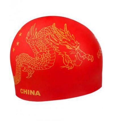 Силиконовая шапочка для плавания CHINA