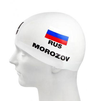Силиконовая шапочка для плавания MOROZOV R-Cap