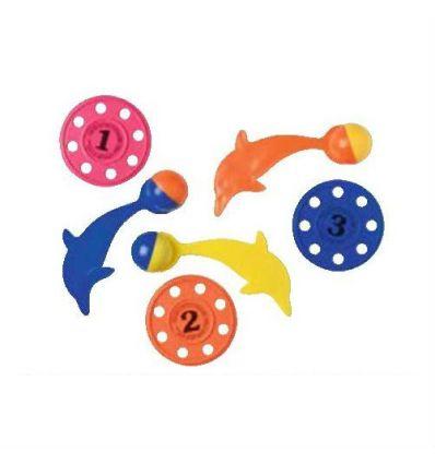 Набор тонущих предметов для дайвинга (3 диска+3 дельфина)