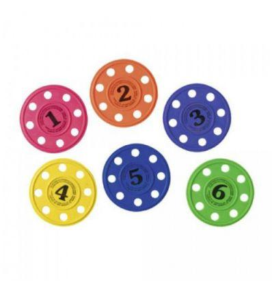 Набор тонущих дисков для дайвинга, 6 шт