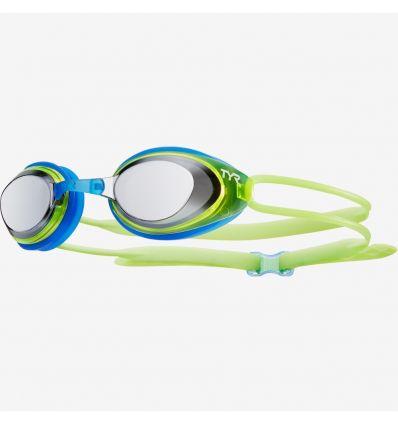 Очки для плавания TYR Black Hawk Racing Mirrored Junior