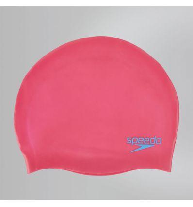 Шапочка Speedo Plain Moulded Silicone Junior Cap Розовая